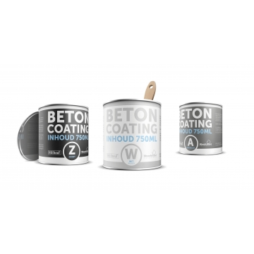 Betoncoating Antraciet 750ml
